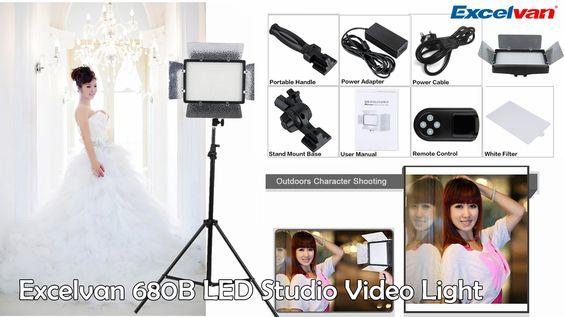 【Excelvan】Review Excelvan 680B LED Studio Video Light Touching Panel Adj...