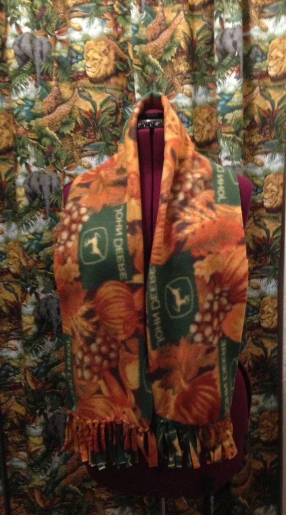 John Deer PumpkinFall Fleece Scarf Boa Cowl by munnnzie on Etsy, $10.00