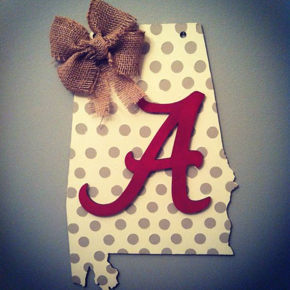 Alabama / Auburn Wooden Painted Door Hanger by millercrafts on etsy or creative crafts gifts and engraving on fb
