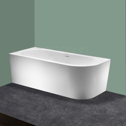Modena Corner Finition Blanc Brillant Baignoire Angle Baignoire Idee Salle De Bain