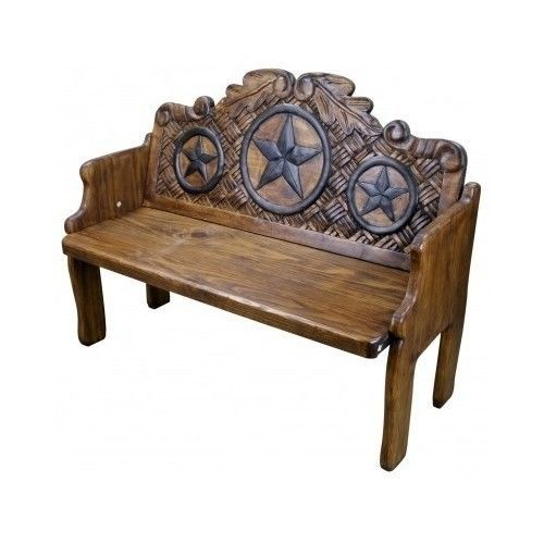 Texas Star Wood Benches And Bench Seat On Pinterest
