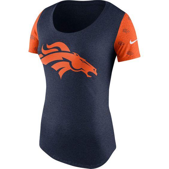 Denver Broncos Nike Women's First String Tri-Blend T-Shirt