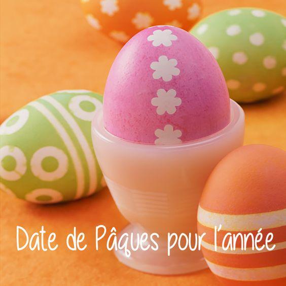 Des dates de Pâques pour les années à venir