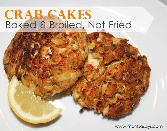 Maryland Style Crab Cakes - baked and broiled, not fried!