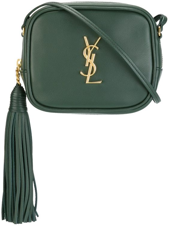 Saint Laurent Monogram Blogger Bag in Green