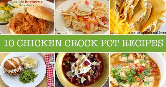 These chicken crock pot recipes are perfect for the whole family to eat together!