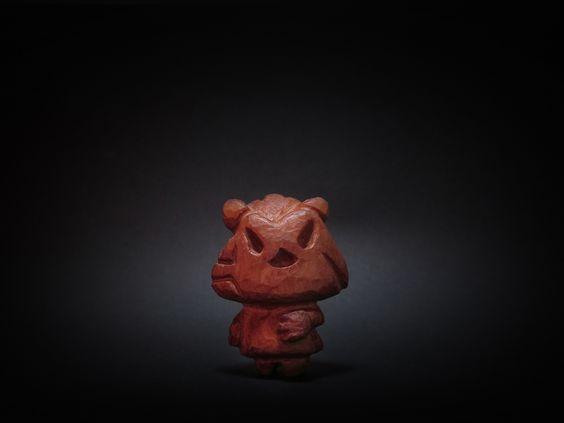 木彫り土偶 15号
