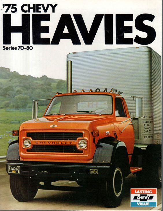 1975 chevrolet heavies 70 80 semi tractor big truck brochure big trucks pinterest trucks. Black Bedroom Furniture Sets. Home Design Ideas