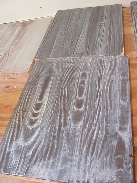Faux wood floors with a wood grain tool simply genius for Faux wood flooring