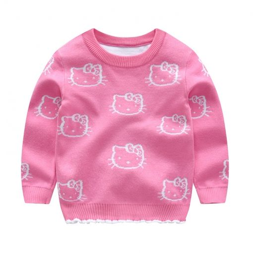 Baby Girls Sweaters Toddler Crew Neck Cotton Knit Pullover Top