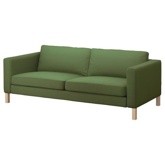 KARLSTAD Sofa - Sivik green - IKEA: Sofas Fabric, Sofas Small, Fabric Sofas, Sofa Bed, Sofas Ikea, Seater Sofas