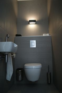 Voorbeeld verlichting toilet woning pinterest toiletten badkamer en verlichting - Voorbeeld deco badkamer ...