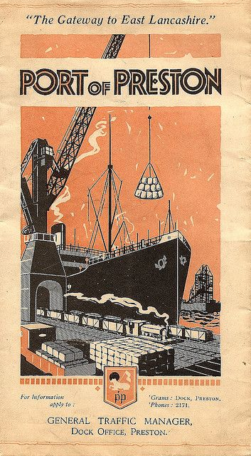The Port of Preston - cover from illustrated brochure, c1925
