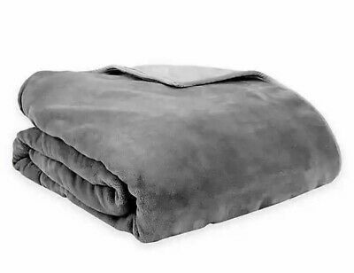 Therapedic Reversible 16 Lb Medium Weighted Blanket In Grey 651896605048 Ebay Weighted Blanket Soft Plush Bed Throw Blanket
