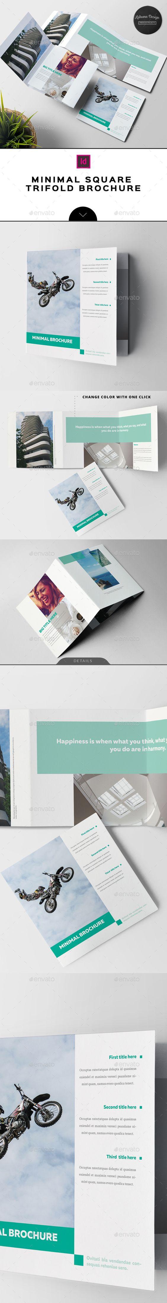minimal square trifold brochure brochure template templates and brochures. Black Bedroom Furniture Sets. Home Design Ideas