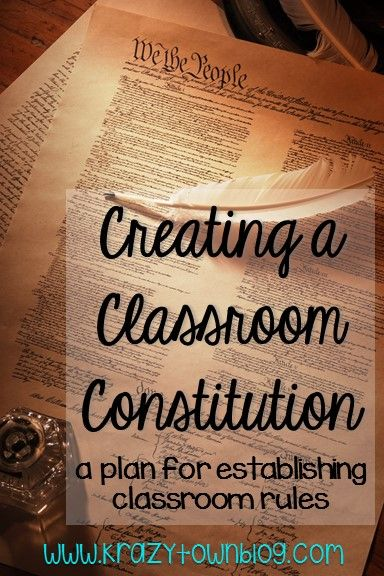 Start the year off by working with your students to write a classroom constitution to establish classroom rules.