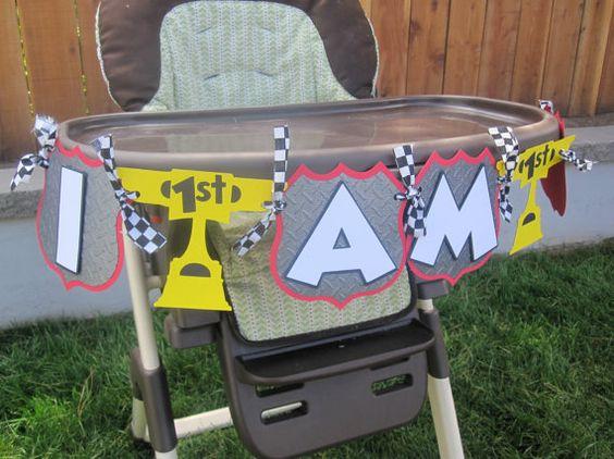 Premium Disney Pixar Cars High Chair Banner – Disney Cars High Chair