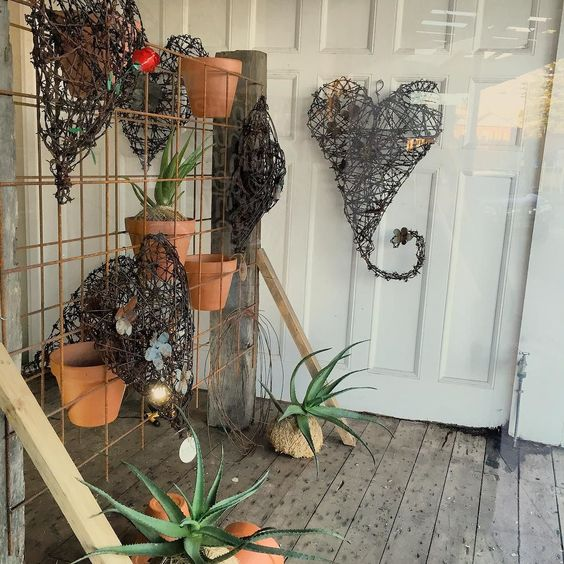 S A T U R D A Y | open 10am to 3pm >>> Lots of outside bits in store to pretty up that outdoor area #outside #plants #barbwire #home #twigandmoss #maitland