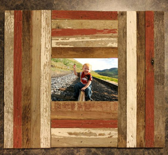 reclaimed barnwood red and white frame distressed slat 4x6 5x7 8x10 11x14 12x16