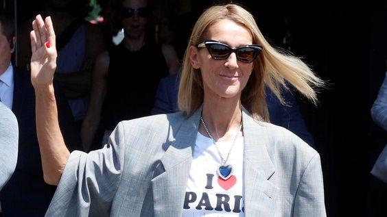 Celine Dion wears blue diamond necklace from 'Titanic' at Paris Fashion Week | Fox News