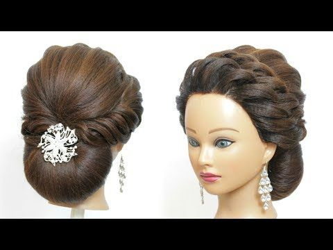 Low Bun Hairstyle For Party Hair Tutorial Easy Updos Youtube Low Bun Hairstyles Bun Hairstyles Bridal Hair Buns