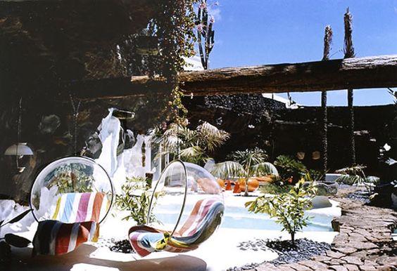 Casa de Cesar Manrique: zona ajardinada: