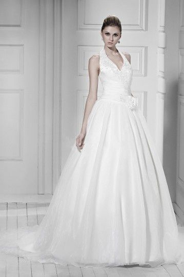 A-line Wedding Dress with lacing application