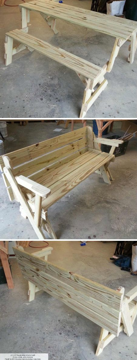 Folding Bench And Picnic Table Combo Crafts Tips And Diy Pinterest Picnics Style And Tables