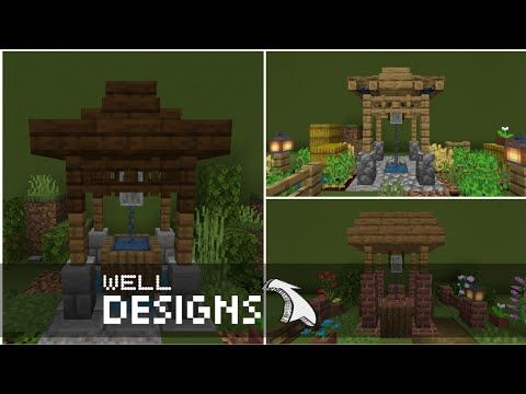 Minecraft 5 Ideas Of Well Designs Youtube Wellness Design Minecraft Minecraft Projects