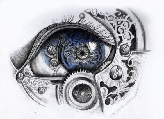 Biomechanical Eye Drawings