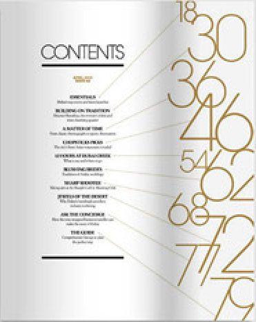 Black and Gold table of contents #artdeco #magazine   ybk ...