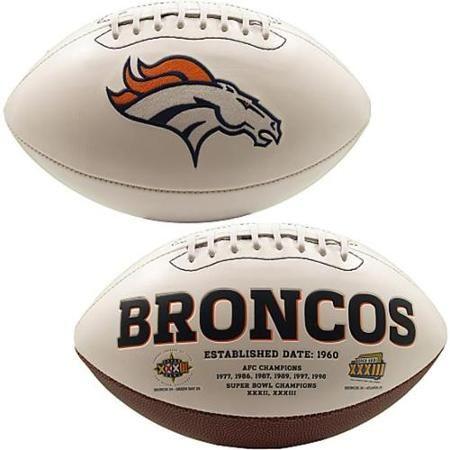 Creative Sports FB-BRONCOS-Signature Denver Broncos Embroidered ...