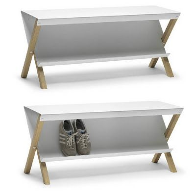 tilted shoe racks: