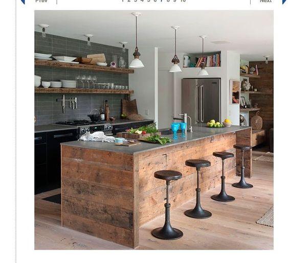 Scaffold board kitchen google search kitchen pinterest scaffold boards google and bar - Space saving movable kitchen island get efficient kitchen traffic ...