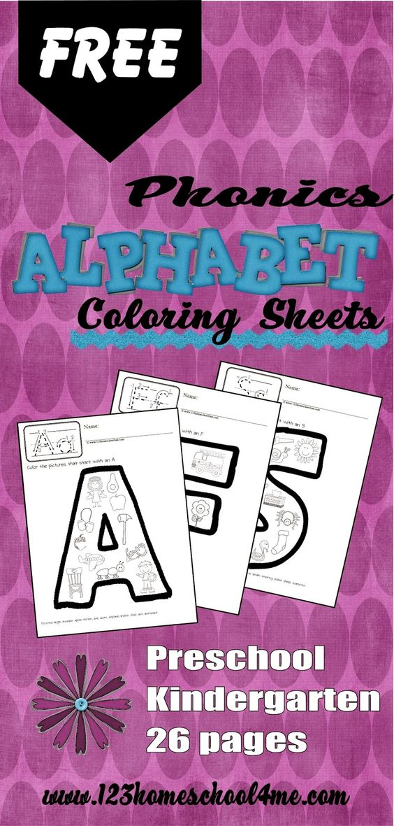 Phonics Coloring sheets and Alphabet