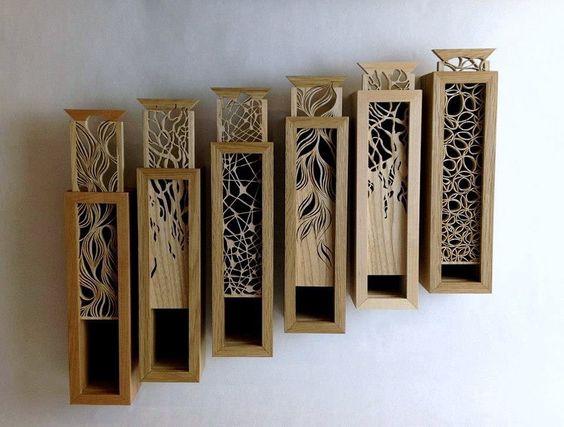 Cajas, Cajas de madera and Piedras on Pinterest