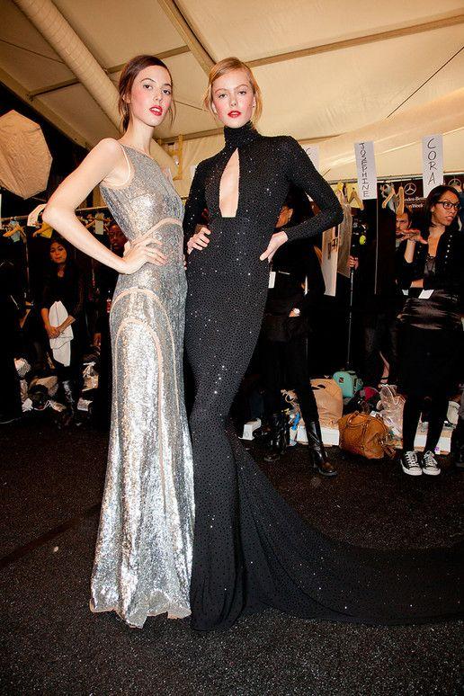 Silver & Black Glamour   1920s Glamorous Winter's nights   MICHAEL KORS fall 2012 backstage