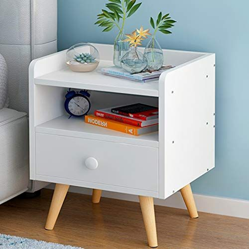 Ysnbm Bedside Table Wood Bedside Table With Drawer Nightstand