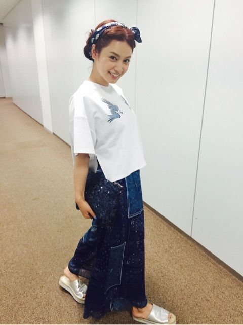 カジュアルな格好の平愛梨さん!