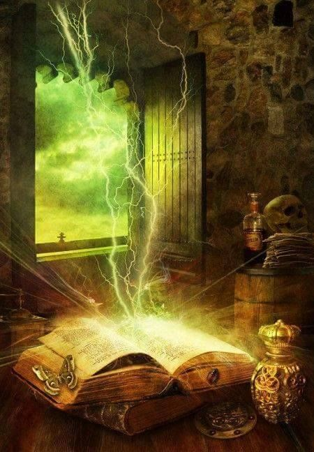 Some magic books are incredibly powerful. Even without someone to say the spells the spells can say themselves.: