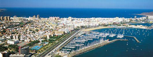Vista aérea de la ciudad de Las Palmas de Gran Canaria