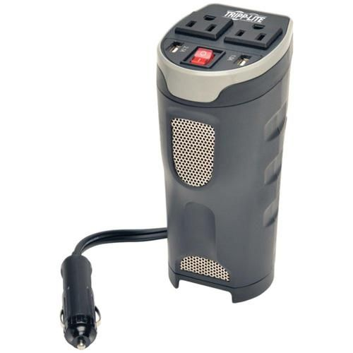 TRIPP LITE PV200CUSB 200-Watt Cup Holder PowerVerter(R) Ultra-Compact Car Inverter with 2 AC Outlets & 2 USB Charging Ports