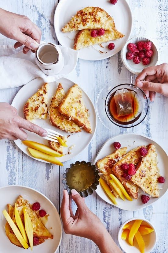 Coconut French Toast by sipsandspoonfuls #French_Toast #Coconut
