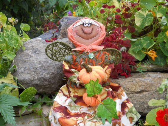 Купить Муха Федотовна (Лукерья) - рыжий, муха, позитив, ручная работа, тыква, улыбка