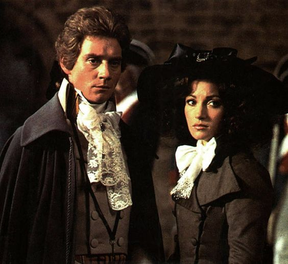 Jane Seymour and Anthony Andrews in The Scarlet Pimpernel, which takes place during the French Revolution.: