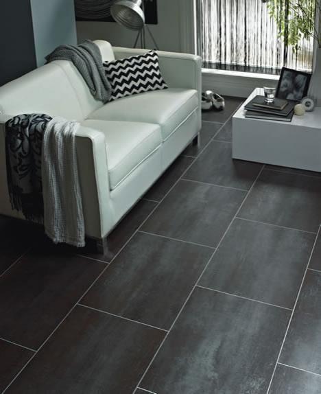 How To Lay Vinyl Flooring In Bathroom: Karndean Flooring - Slate Effect Vinyl Tiles