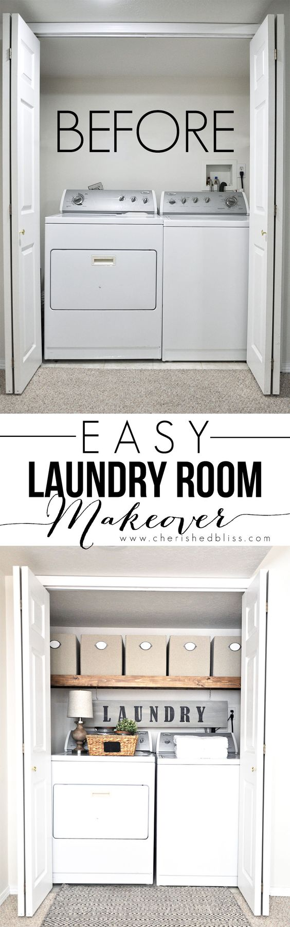 ... space into a functional laundry area with just a few simple changes