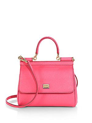 Dolce & Gabbana Mini Dauphine-Leather Miss Sicily Satchel