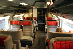 All aboard the Eurostar between London and Paris in 2:21 minutes.