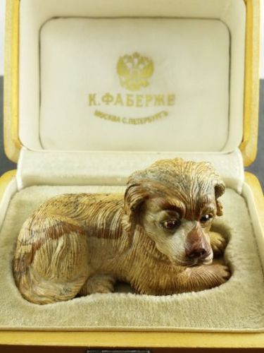 Faberge-Hundefigur-aus-Jaspis